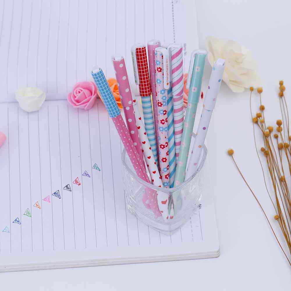 Tomtosh Новинка 2017 года 10 шт./Цветные гелевые ручки, кавайные канцелярские принадлежности корейский цветок canetas Escolar Papelaria подарки для школы и офиса