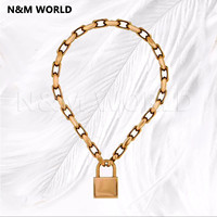Locks Pendant Chain Necklace Women Jewelry Brand New 2019 Hot Sale Chain Necklace Friendship Gifts