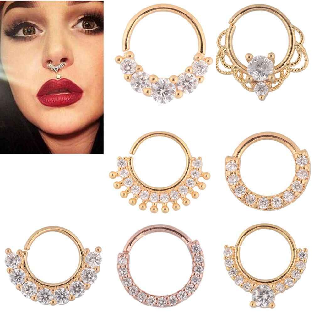 Mustache Septum Piercing Jewelry Nose Ring Zinc Alloy Septum