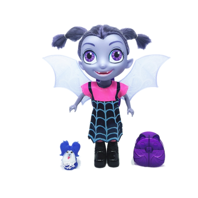 Doll Vampirina Girl The Vamp Batwoman Figure with Music and Lights PVC Models Anime Toys For Kids Birthday Party 35*22*10cm