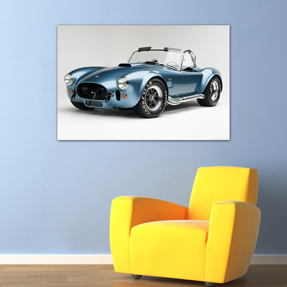 AC Cobra Shelby Classic Car Framed Canvas Photo Wall Art Picture Home Decor