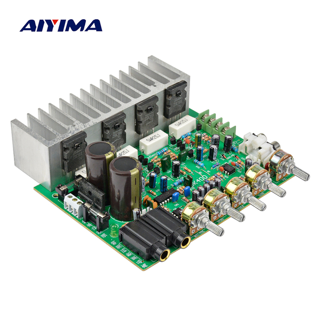 AIYIMA Audio Amplifier Board HIFI Digital Reverb Power Amplifier 250W+250W Audio Preamp Rear Amplification With Tone Control