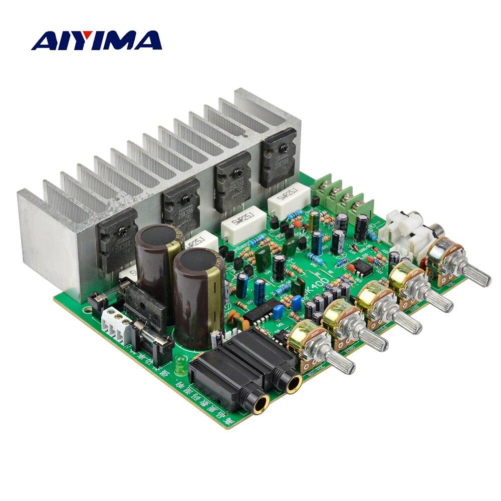 AIYIMA Placa de amplificador de Audio HIFI Reverb Digital amplificador de potencia 250W + 250W Audio preamplificador de amplificación trasera con Control de tono
