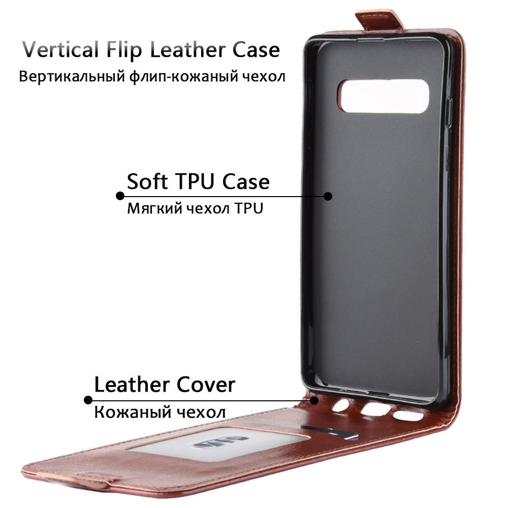 KSAM1160_2_JONSNOW Flip Leather Case for Samsung S10 Plus Phone Cover for Galaxy S10 Flip Case for Samsung S10e with Card Slots