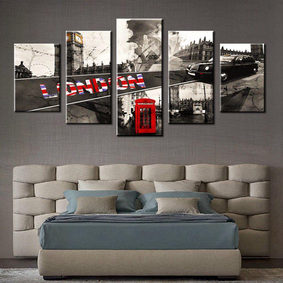 UK Britannien White & Black London City View Big Ben Landschaft ...