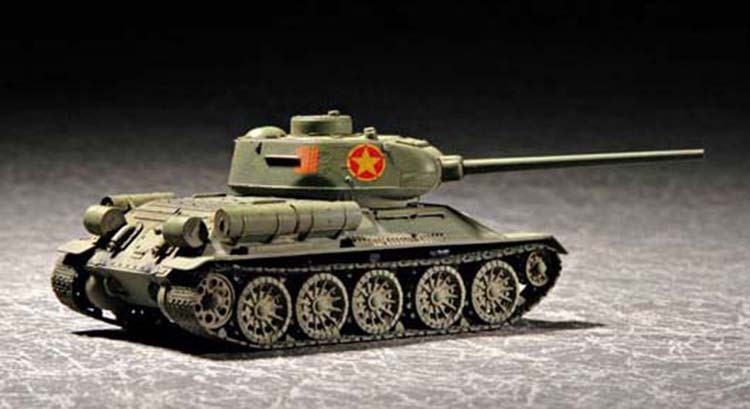 1/72 World War II Soviet T-34/85 Tank 1944 Type Military Assembly Model Armored Vehicle 07207 1 72 soviet union armored train model toy assembly 82912