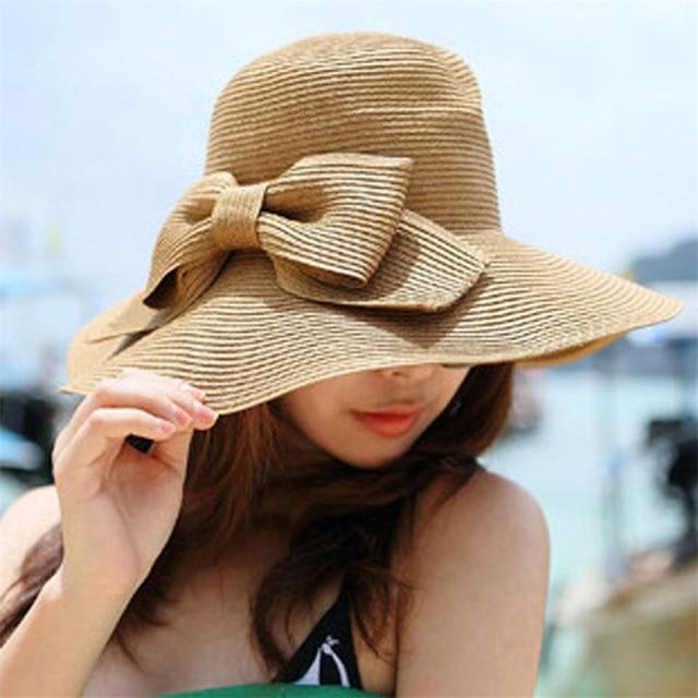 Women Caps Hot Sale Holiday Summer Bohemian Sweet Sun Floppy Hat Straw  Beach Wide Large Brim 410295fe4b09