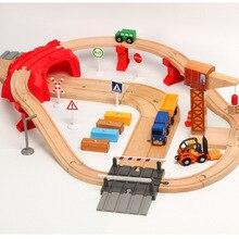 EDWONE-новинка, один набор, Деревянный Железнодорожный Кран, поезд, автомобильный слот, железнодорожные аксессуары, оригинальная игрушка для детей, рождественские подарки, подходят для игрушек THOMAS BIRO