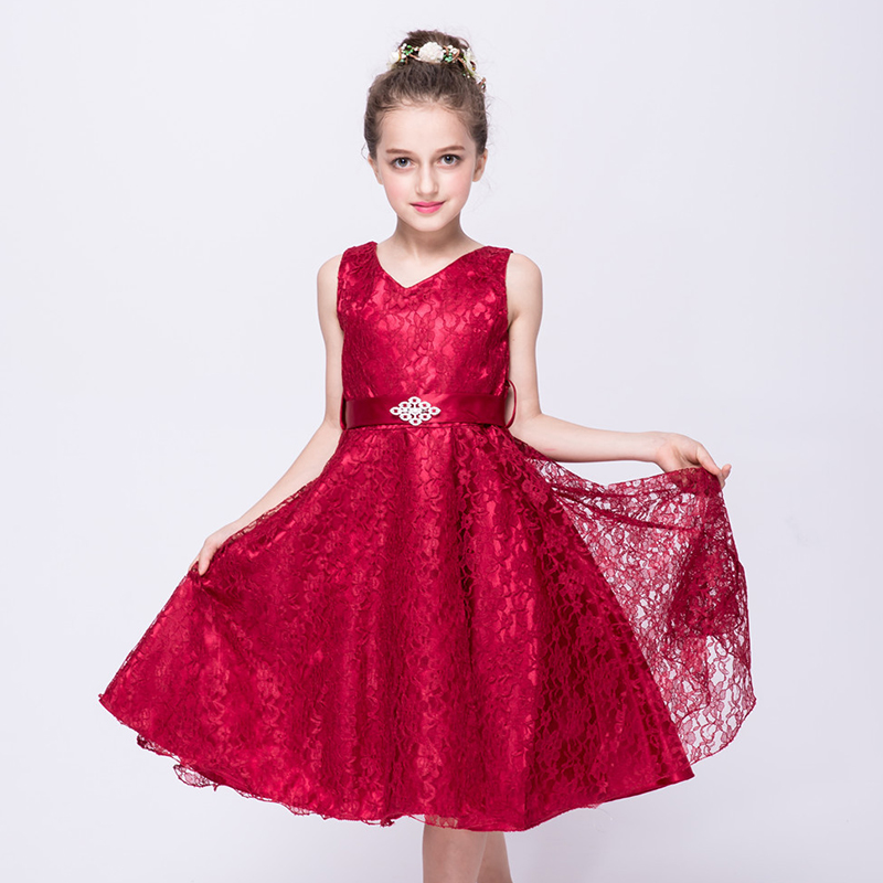 Girls' Lace Dress Sweetheart Princess Evening Dress Party Dress Children's Formal Gown Dresses Birthday Gift for 2-12y Teen Girl lace high low swing evening party dress