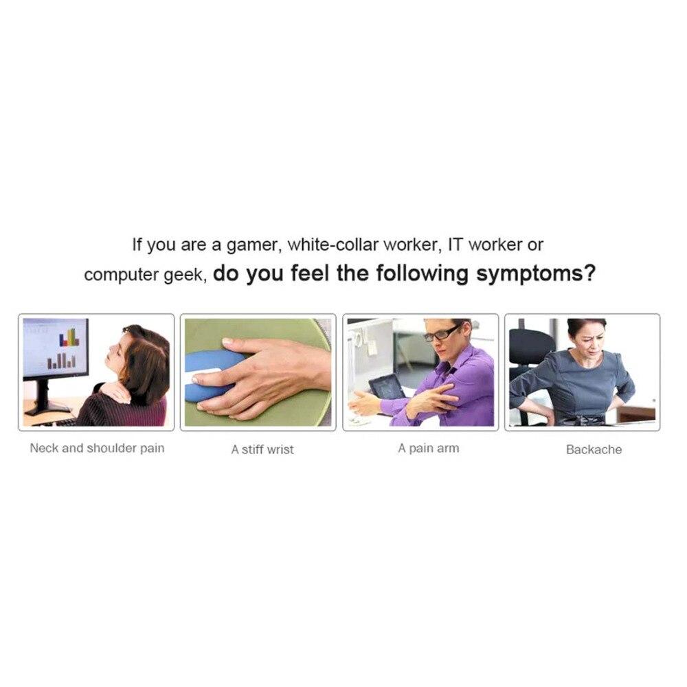 Tapis de souris amovible avec repose-poignet ordinateur bureau tapis de souris avec Support de poignet Gel pour ordinateur tapis de souris de jeu avec accoudoir - 4