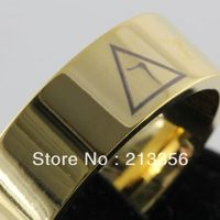 Free Shipping Buy Cheap Price Discount Jewel USA HOT Selling 8MM Men&Womens Masonic 14th Degree Gold Pipe Tungsten Wedding Rings