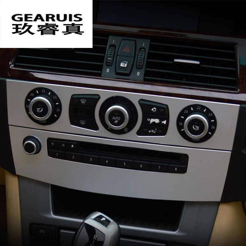 Para BMW 5 Series E60 E61 2005-2010 De Fibra De Carbono Salida de Aire Interior Recortar Calcomanía