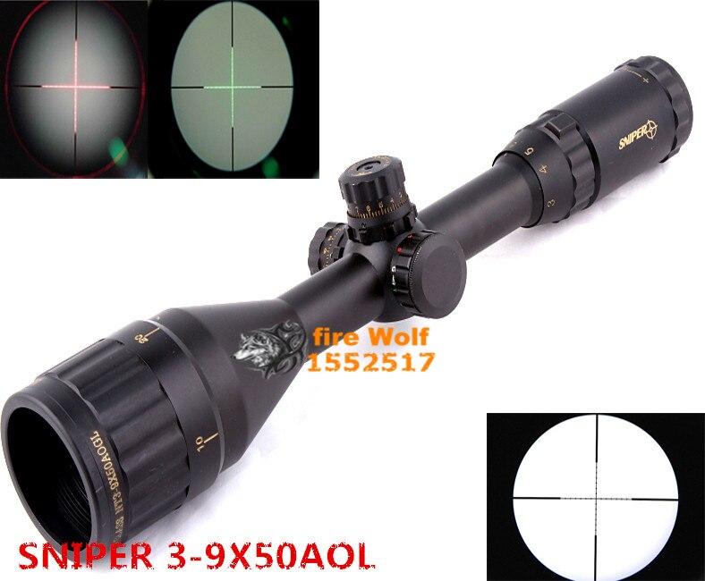 2016 NEW Sight Telescopic SNIPER 3-9X50 Outdoor Optics Sniper TARGET Gun Sight fits for 11mm/20mm Rail Free shipping