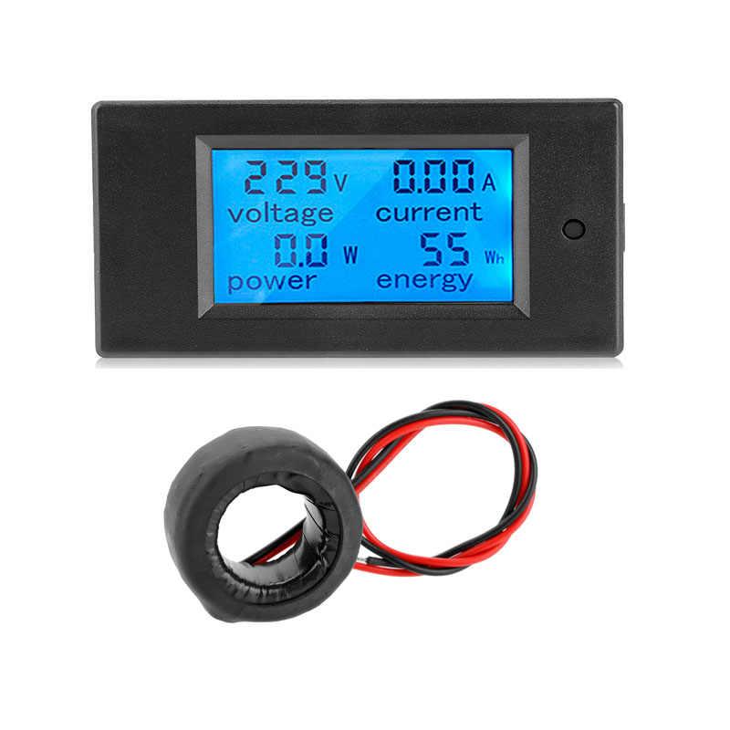 Multifunktions Messgerät AC 80-260V 100A Digital LCD Leistungsmesser Power