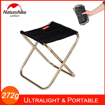 272g Naturehike Mini obóz stołek lekkie i przenośne krzesło składane na zewnątrz podróży Camping piesze wycieczki wędkowanie 165lbs pojemność tanie i dobre opinie NH17Z012-L Black Green