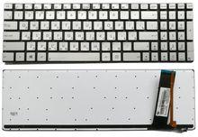 New RUSSIA Silver Laptop keyboard for ASUS N550 N550LF N550JV N750 Silver RUSSIA Backlit keyboard