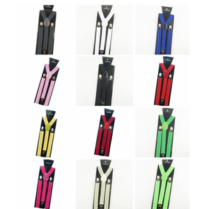 Hot Sale Mens Womens Unisex Clip-on Suspenders Elastic Y-Shape Adjustable Braces Colorful Female Male Fashion Accessory Apparel