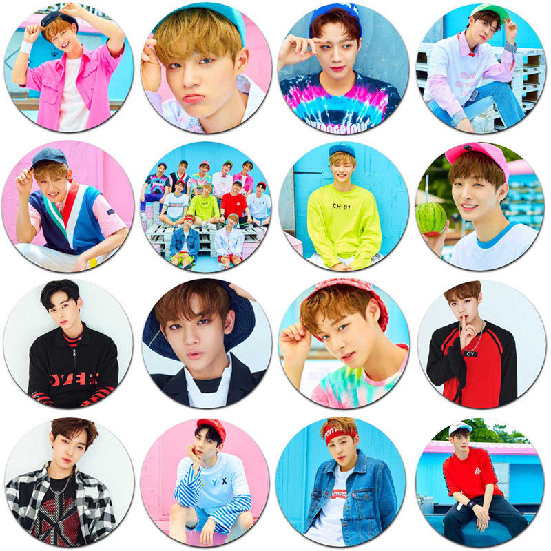 Kpop WANNA ONE Badge BAE JIN YOUNG KANG DANIEL Pins Brooch HA SUNG WOON