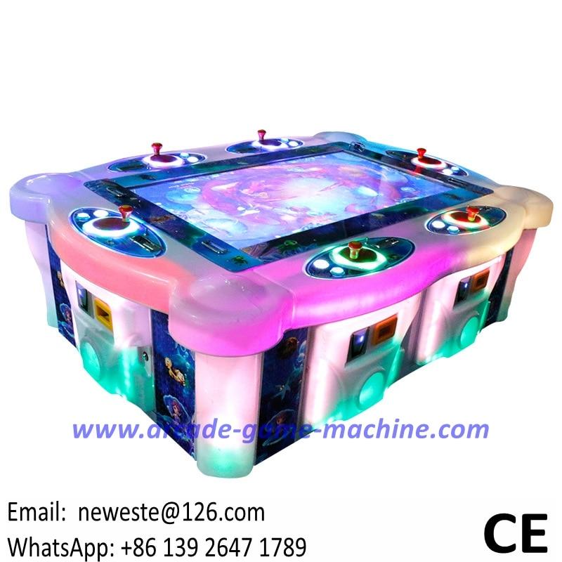 6 Players Amusement Arcade Fishing Simulator Video Redemption Tickets Games Machines