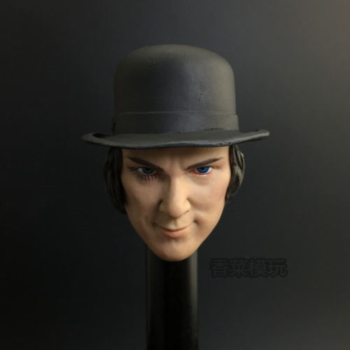 New 1/6 Scale Clockwork Orange Kubrick Head Sculpt Model Toys With Hat For 12 Male Action Figure Gifts Collections Freeshipping 12 inch 1 6 scale male head sculpt for 12 men action figure toys collections