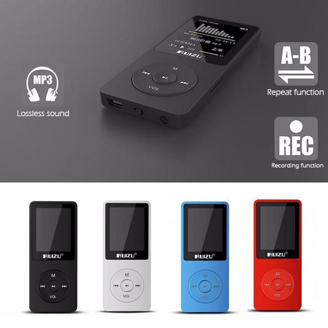 Original RuiZu X02 HiFi Player FM Recorder E-Book Clock Sport Music Mp4 Player  Can Play 100 hours