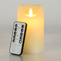 LED 10 Key Remote Flameless Candles Paraffin Wax LED Electronic Flameless Candle Lights Remote Control Flame