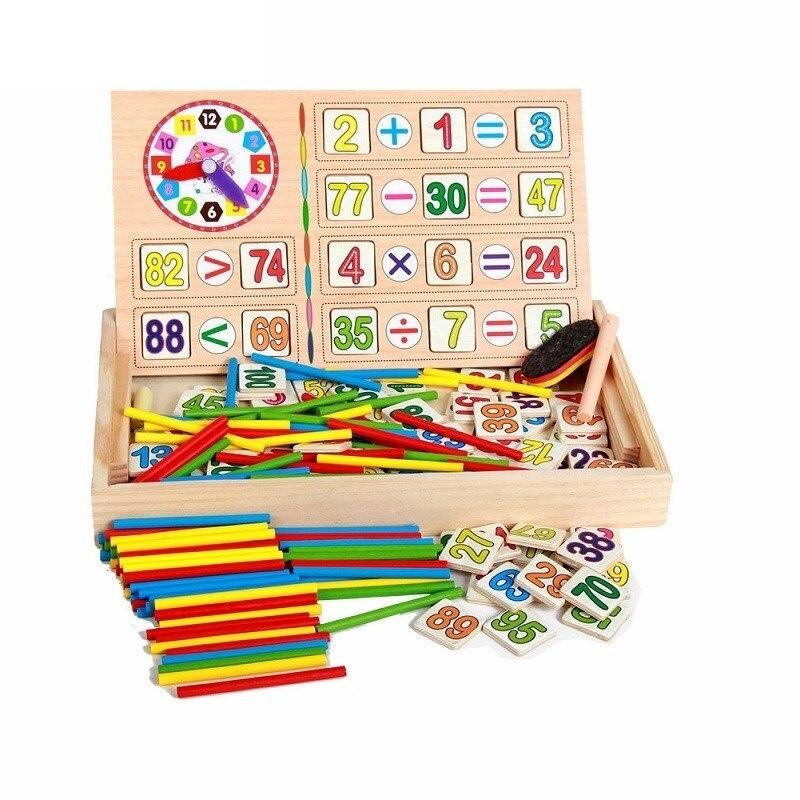 Jouets Mathématiques Montessori Pour Enfants 100 pièces Bâtons 100 pièces Cartes Numériques Tableau Noir En Bois Oyuncak Brinquedos Juguetes Brinquedo 55