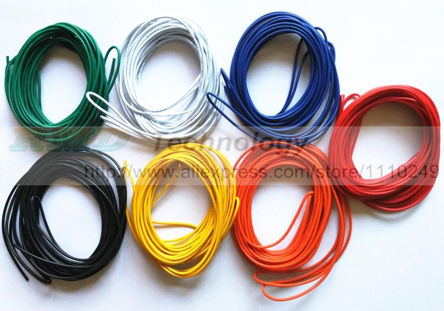 5 метров/лот супер гибкий 18AWG 22AWG 24AWG ПВХ изоляцией электрический кабель светодиодный LED, Авто Цвет выбирается кабель, бесплатная доставка