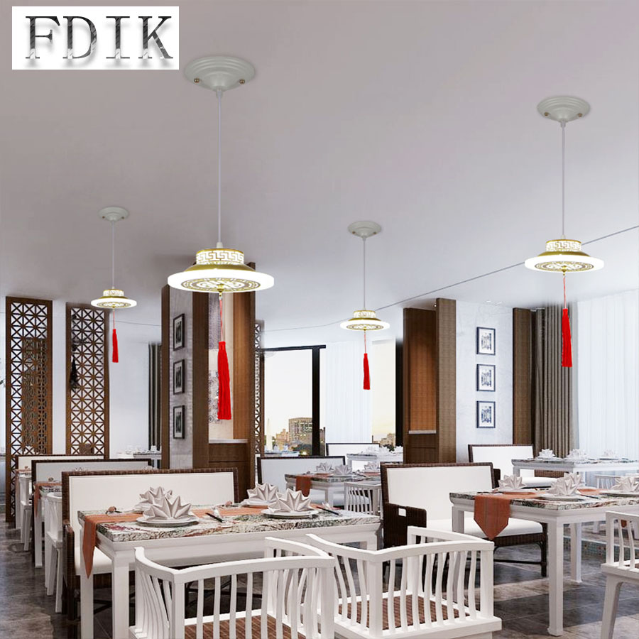 Chinese Restaurant Chandelier 3 LED 220V Acryl Chinese Style Modern Minimalist Bar Chandelier Lamps Creative Fashion Chandeliers chinese style wooden 1 2 3 heads lamps chinese restaurant new classical restaurant chandelier wooden sheepskin chandelier
