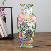 Classic Artistic Antique Porcelain Flower Vase Jingdezhen Handmade Beautiful Ceramic Vase For Home Office Decor