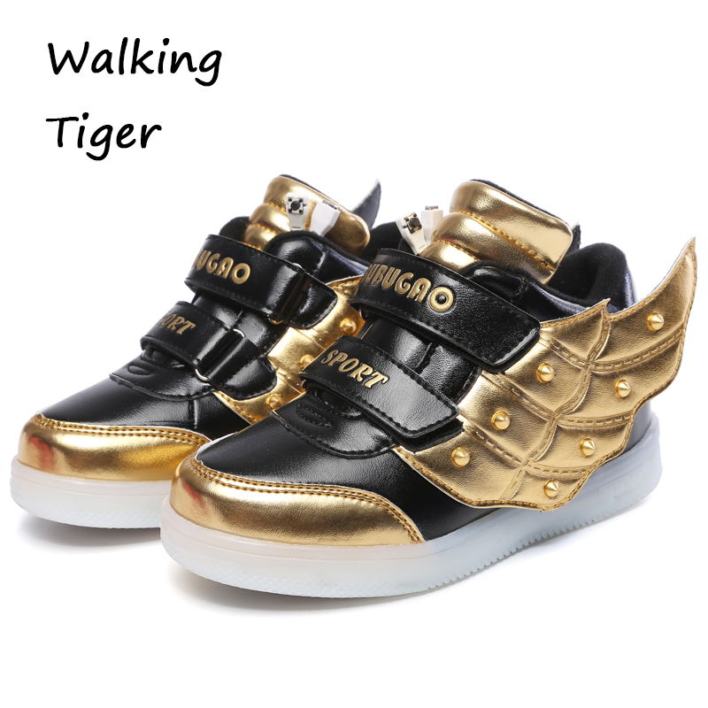 Kids loafers boys sneakers girls shoes glitter boy flash shoe breathable girl shoe with led light autumn winter 2017 2017 heelys boy roller skate sneakers kids shoes with wheel shoe negro zapatillas con ruedas black chaussure led size 16 8 23cm