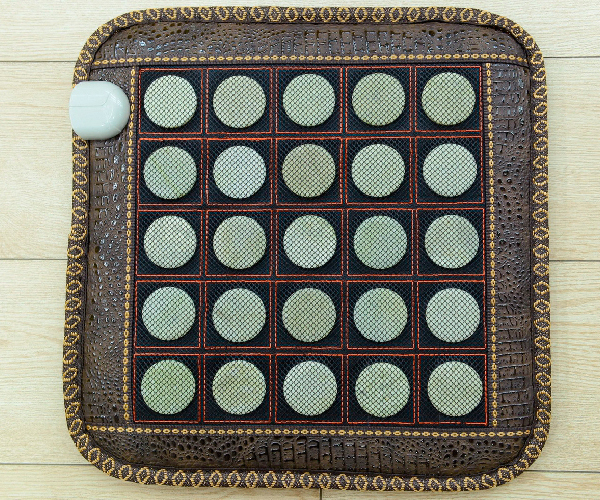 Natural Jade Massage Cushion Temperature Control Jade Health Care Cushion Magnetic Therapy Heated Mat 45cm*45cm Free Shipping 2 sets ball the plum flower jade handball furnishing articles hand bead natural jade health care gifts