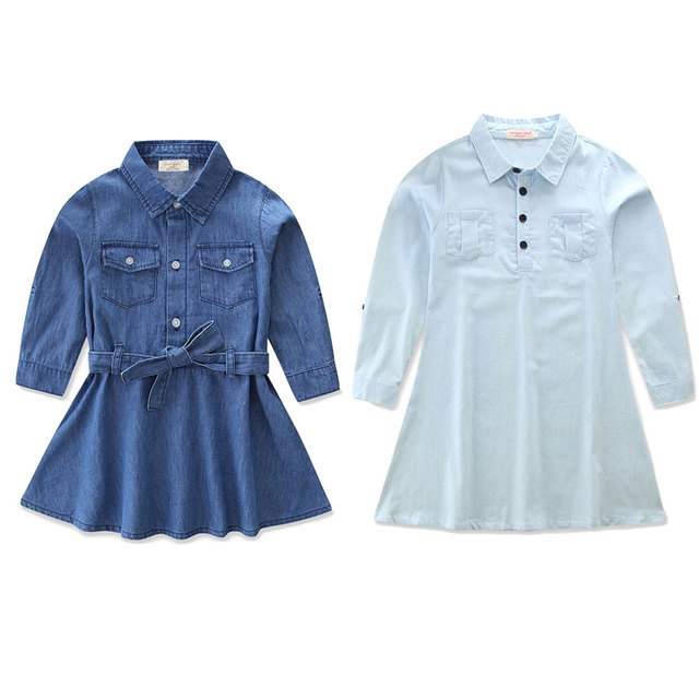 211cb39430 2018 fashion family look clothes mommy and me denim dress outfits mother mum  and daughter matching clothes cowboy dresses