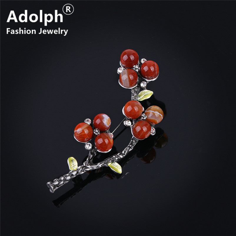 ADOLPH Jewelry Star Vintage Flower Leaf Beads Brooch Pins For Woman Clothers Dress Bride Broochs Fashion Accessories Female New