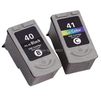 2 Sets Compatible Ink Cartridge PG40 CL41 PG 40 CL 41 For Canon PIXMA IP2200 IP1300 MP160 MP180 MP190 MP140 printer