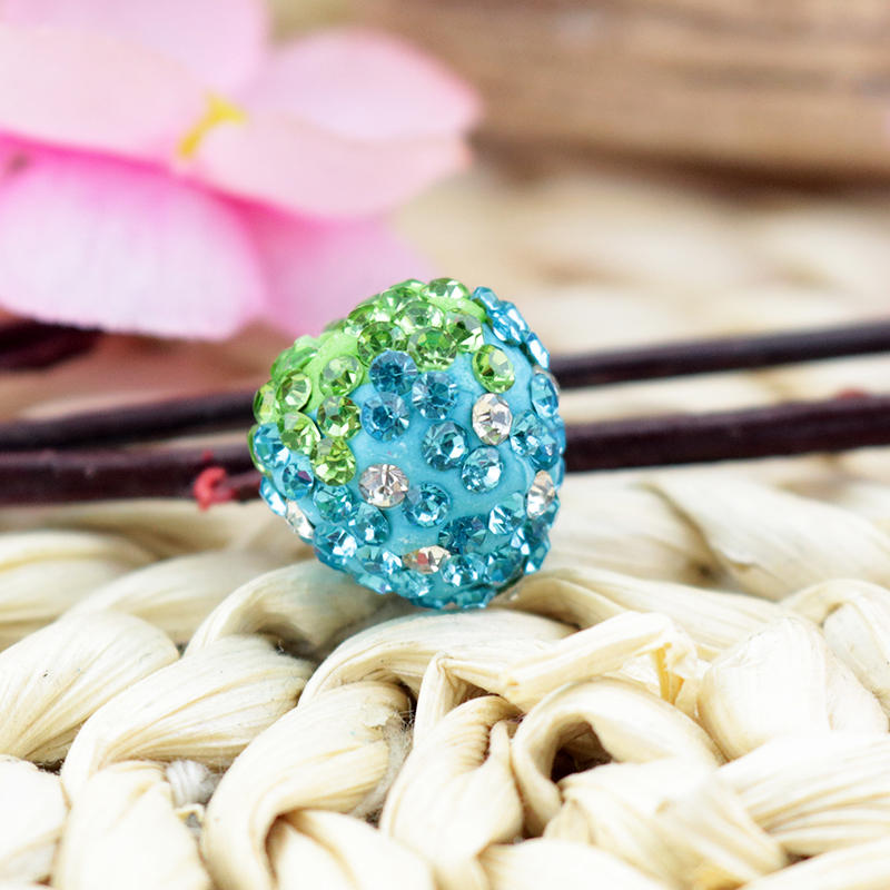 Dashing New Fashion 50pcs 14x16mm Lake Blue Clay Beads Clay Pave Disco Crystal Beads For Jewelry Making Bracelet Earrings Diy Beads Jewelry & Accessories