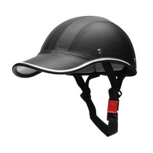 Motorcycle Helmet Half Face Protective Helmet Unisex portable Men/Women Motorbike Helmet visor Safety Hat(China)