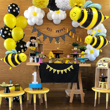 1 סט חמוד דבורת דבש סדרת בלוני אמא כדי דבורת נייר באנר דבורה עוגת טופר תינוק מקלחת ילדים מתנת יום הולדת מסיבה קישוט