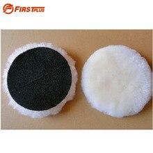 5x100% 천연 양모 연마 패드 자동차 페인트 연삭 왁싱 버핑 접착 패드 자동차 폴리 셔 버퍼