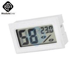 Weiß Mini LCD Digital Thermometer Hygrometer Temperatur Indoor Bequem Temperatur Sensor Feuchtigkeit Meter Gauge Instrumente