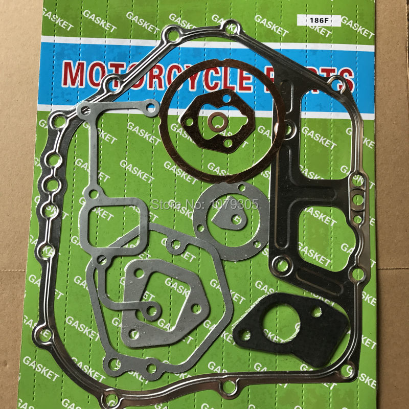 FULL GASKET SET FOR CHINESE 186F 9HP 4 STROKE DIESEL 5KW GENERATOR BASE GASKET REPLACEMENT PARTSFULL GASKET SET FOR CHINESE 186F 9HP 4 STROKE DIESEL 5KW GENERATOR BASE GASKET REPLACEMENT PARTS