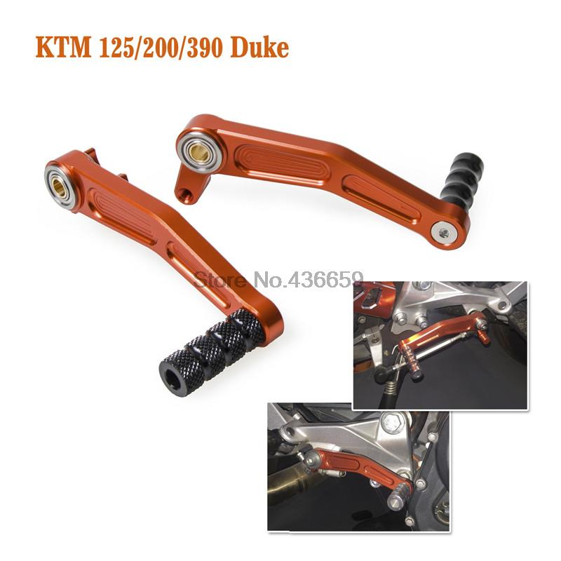 CNC Aluminium Brake Clutch Gear Pedal Lever For KTM DUKE 125 200 390 2013-14 15 motorcycle front rider seat leather cover for ktm 125 200 390 duke