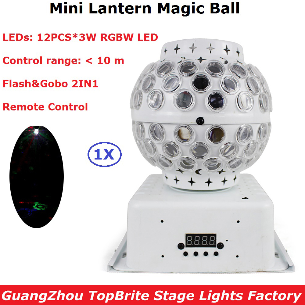 DJ Lighting Remote Control RGBW Quad Color LED Crystal Magic Ball Stage Lights 10M Control Range 100-240V Colorful KTV Lights alluminum alloy magic folding table bronze color magic tricks illusions stage mentalism necessity for magician accessories