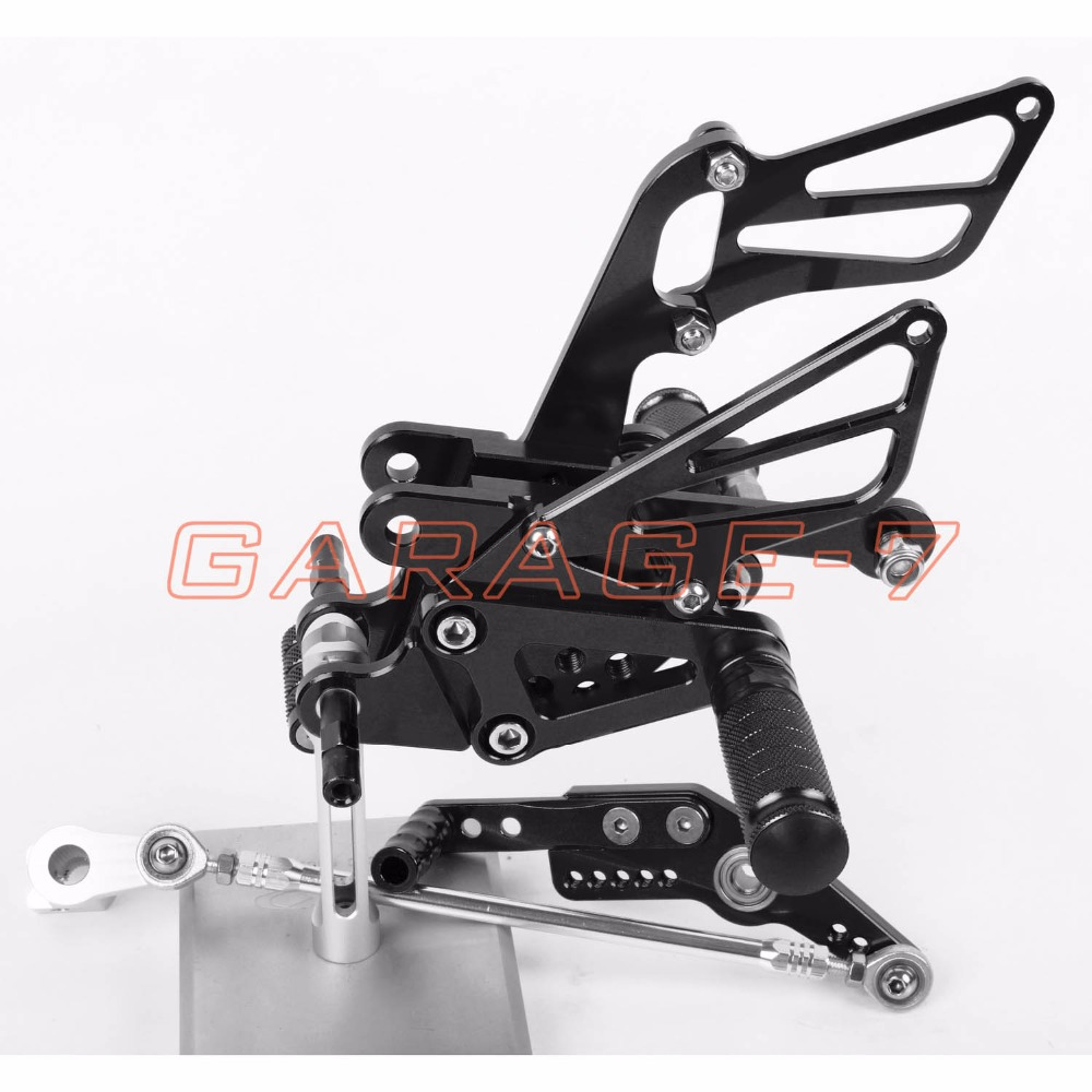 For HONDA CBR1000RR 2008-2013 CNC Rearsets Foot Rests Rear Set Black Motorcycle Foot Pegs Aluminum Alloy 2012 2011 2010 2009 New