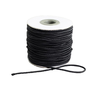 Round Elastic Cord With Nylon Outside And Rubber Inside Black 2mm 40m Roll