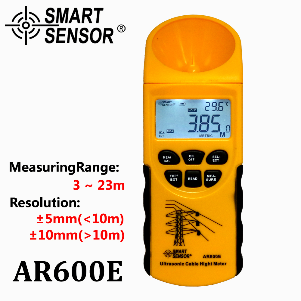 Ultrasonic Cable Height Meter 6 Cables Measurement LCD display Measuring Range Height 3 23m Plane 3