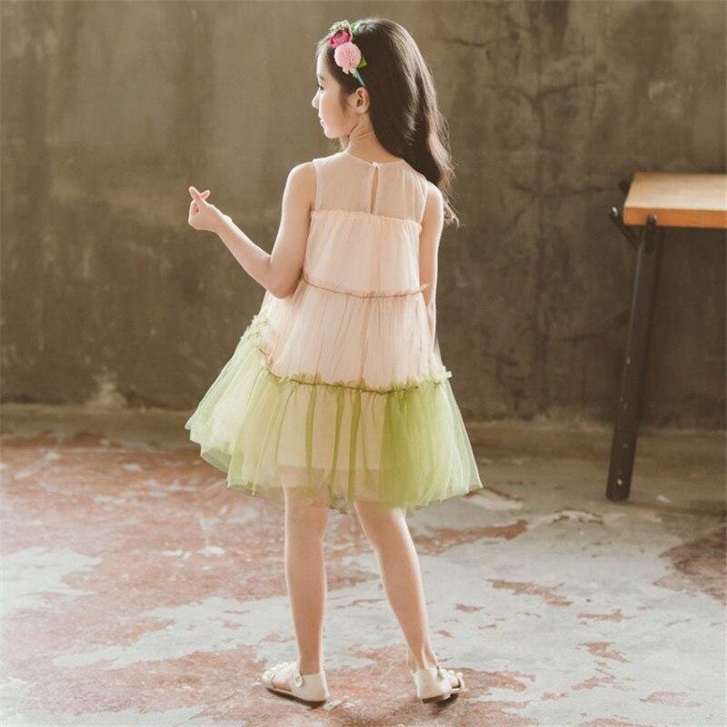 Zoe Saldana 2018 Baby Girls Flower Dresses Children Summer Sleeveless A line Princess Dress Children Clothing