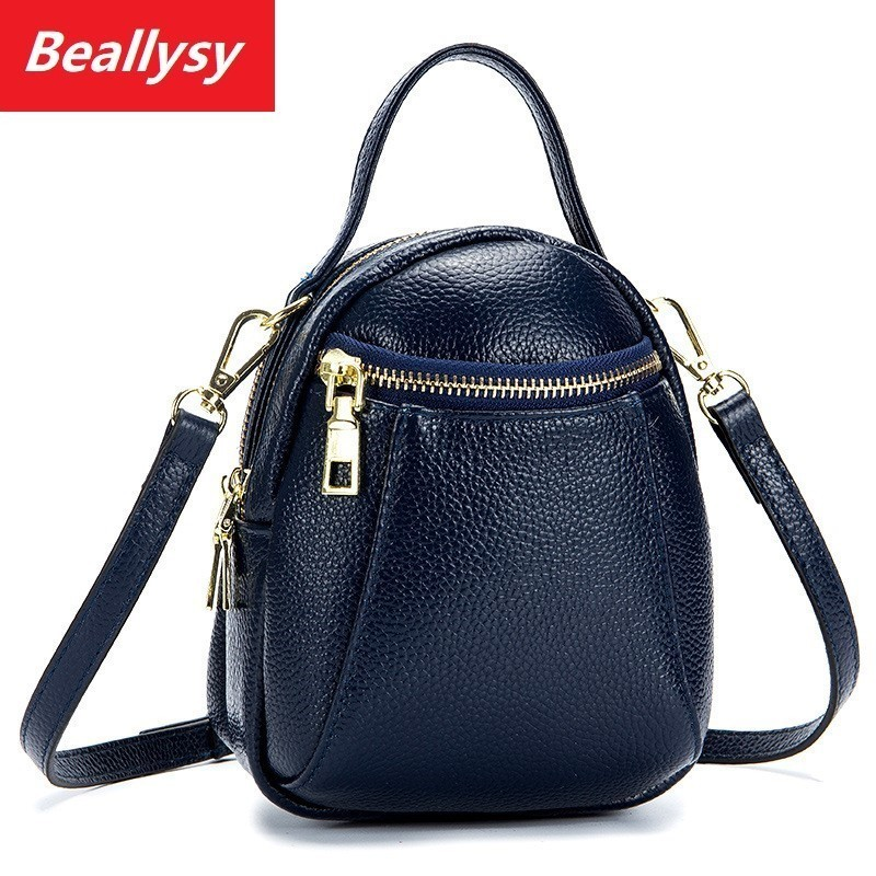 Real Cow Leather Ladies Women Genuine Leather Handbag Shoulder Bag High Quality Designer Luxury Brand Boston Crossbody Bag in Top Handle Bags from Luggage Bags
