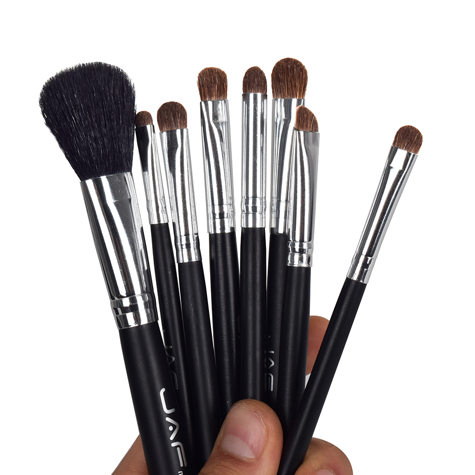 8 Pcs Makeup Brushes Set Black Cosmetic Face Eyeliner Foundation Powder Make-up Kit Tool with Brush Holder Case high quality 24pcs makeup brushes set cosmetic make up brush tool kit fan foundation powder eyeliner brushes with leather case
