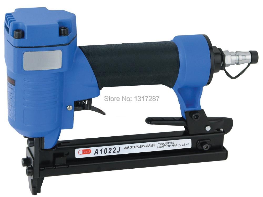 lucht nietmachine J1022-C pneumatische nietmachine met smalle kroon 10 mm U-stijl, nagellengte: 10-22 mm 4-7BAR 60-110psi